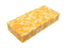 Block of Colby Jack cheese Royalty Free Stock Photo