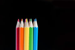Block of colour pencils Royalty Free Stock Photography