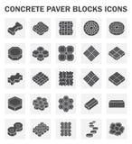 Block. Concrete paver block icons sets Stock Photo