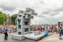 BLOCK dance performance at Greenwich and Docklands International Stock Photo