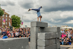 BLOCK dance performance at Greenwich and Docklands International. London, United Kingdom - June 25, 2016: Greenwich and Docklands International Festival. BLOCK Stock Photos