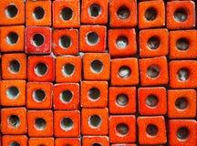 Block deckt Muster mit Ziegeln Stockfotografie
