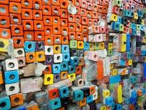 Block deckt Muster mit Ziegeln Stockfotos