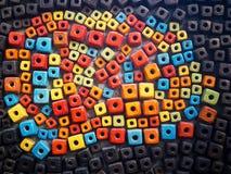 Block deckt Muster mit Ziegeln Lizenzfreies Stockbild