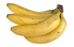 Block der Bananen, getrennt auf Weiß Lizenzfreies Stockfoto