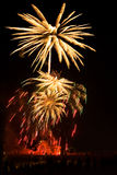 Block der bunten Feuerwerke Stockfotos