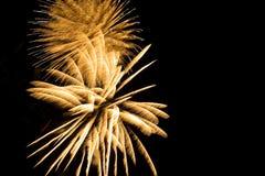 Block der bunten Feuerwerke Lizenzfreies Stockbild