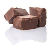 Block der dunkelbraunen Schokolade bessert I aus Stockfotos