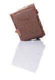 Block der dunkelbraunen Schokolade bessert VI aus Lizenzfreies Stockfoto