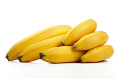 Block der frischen Bananen getrennt Stockfotografie