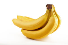 Block der frischen Bananen getrennt Lizenzfreie Stockfotografie