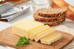 Block der frischen Butter Stockfotos