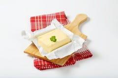 Block der frischen Butter Stockbild