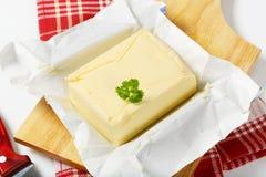 Block der frischen Butter Stockfotografie