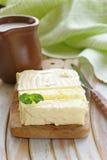Block der frischen organischen Butter Stockfoto