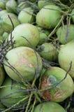 Block der grünen Kokosnüsse Stockbild
