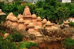 Block der kleinen Jain Tempel Stockfotografie