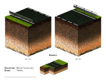 Block der Landschaft 3D Lizenzfreies Stockfoto