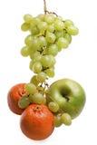 Block der Trauben, des Apfels und des tange Lizenzfreie Stockfotos