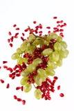 Block der Trauben und des Granatapfelkornes Stockbilder