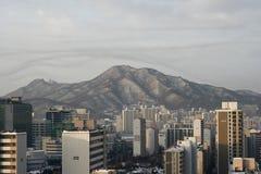 Block der Wohnungen in Anyang Korea Lizenzfreie Stockfotografie
