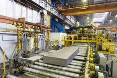 Block des Aluminiums platten Pressmaschine Lizenzfreies Stockfoto