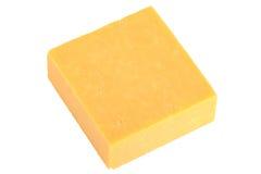 Block des Cheddar-Käses Stockfoto