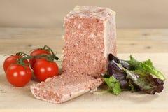 Block des Corned-Beefs Stockbild