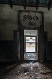 Block des Nazikonzentrationslagers Auschwitz Birkenau Lizenzfreie Stockfotografie