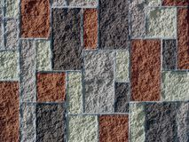 Block Design. Abstract of a unique block wall Royalty Free Stock Photos