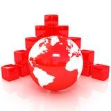Block diagram and  Earth Stock Photos