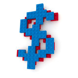 Block Dollar Sign Stock Photography