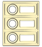 Block doorbell buttons Royalty Free Stock Image