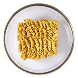A block of dried Instant noodle Stock Photos