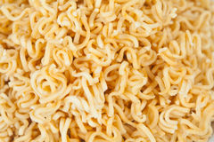 A block of dried Instant noodles Royalty Free Stock Photos