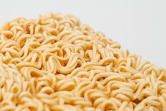 A block of dried Instant noodles Stock Images