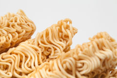 A block of dried Instant noodles Stock Photos