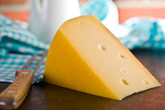 Block of edam cheese Royalty Free Stock Image