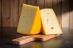 Block of edam cheese Stock Photos