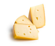 Block of edam cheese. On white background stock image