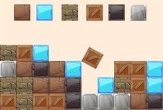 Block element. Vector element box, box, metal, texture, stone, game, set, level Royalty Free Stock Photography
