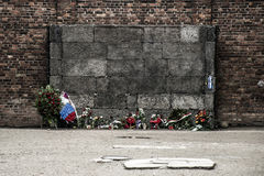 Block 10 execution wall concentration camp Auschwitz Birkenau KZ Poland 2 Stock Photography