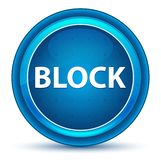 Block Eyeball Blue Round Button royalty free illustration