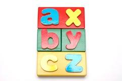 block för 1 alfabet arkivbilder