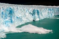 Block fall in Perito Moreno royalty free stock photography