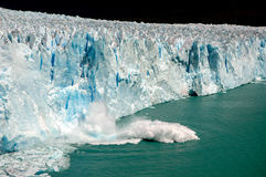 Block fall in Perito Moreno royalty free stock photo
