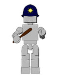 Block Figure Police Officer Stock Images