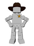Block Figure Sheriff Royalty Free Stock Photo