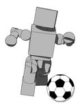 Block Figure Soccer Player Royalty Free Stock Photography
