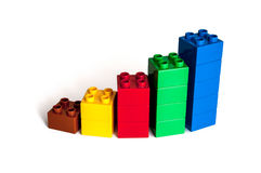 Block-Finanzdiagramm Lizenzfreies Stockfoto